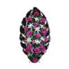 Венок фиолетовый из гвоздик, лилий, хризантем