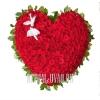 Сердце из алых Роз на стойке