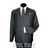 Погребальный серый костюм в полоску