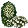 Белые Хризантемы, Розы, комплект 2 предмета
