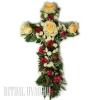 Крест из цветов на похороны