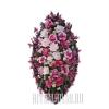 Почтительный, розовый похоронный венок