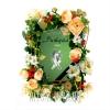 Фото на похороны. Рамка из живых цветов