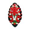 Красный солидный похоронный венок