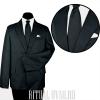 Черный похоронный костюм на подкладке