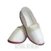 Тапочки белые с отделкой бейкой в тон платья