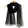 Шифоновый шарф черный