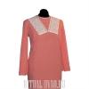 Платье на похороны с оторочкой шитье
