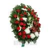 Цветы сплетенные в венок на похороны