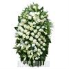 Венок из живых цветов Белая Роза