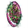 Розовый траурный венок - тюльпаны, гвоздики