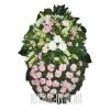 Свежий живой венок нежные цветы