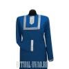Платье синее с серебренной оторочкой на груди