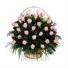 Корзины с розовыми Розами