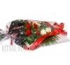 Букет на возложение из красных Гвоздик и белых Роз