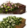 Композиция кремационная из живых цветов