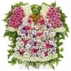 """Композиция на могилу ребенку из живых цветов """"Платье"""""""