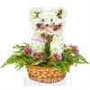 """Композиция на могилу ребенку из живых цветов """"Кошка"""""""
