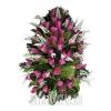 Траурный венок с фиолетовыми тюльпанами