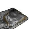 Подушка в гроб атласная с золотым кружевом