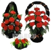 Набор - цветы на крест, корзина, полянка