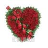 110 Роз на могилу в форме сердца