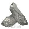 Тапочки из серебрянной парчи на широкую ногу