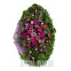 """Венок """"Цветочный пейзаж"""" из ненатуральных цветов"""