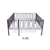 Ограда с кованными вставками на могилу