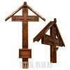 Обновить два креста в ограде