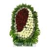 Живой похоронный венок