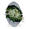 Похоронный венок в белом стиле В01-50