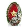 """Искусственный венок """"Красная звезда"""""""