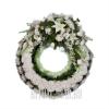 """Венок на похороны """"Кольцо"""" белоснежный"""