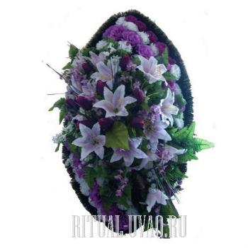 Похоронный венок скромный В01-49