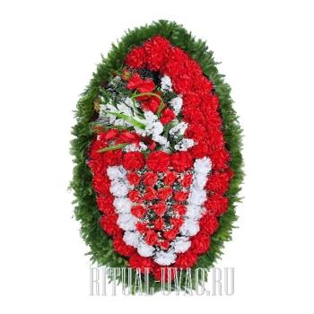 """Искусственный венок на похороны """"Красота классики"""""""