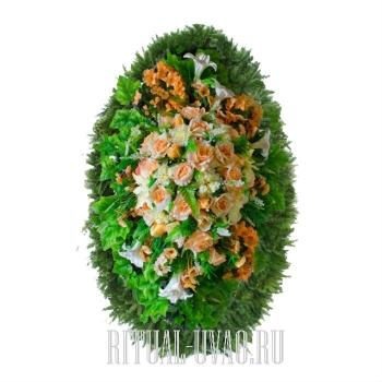 """Искусственный венок """"Зелень"""" для похорон"""