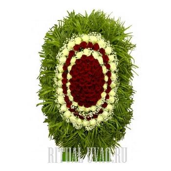 Венок похоронный- живые цветы
