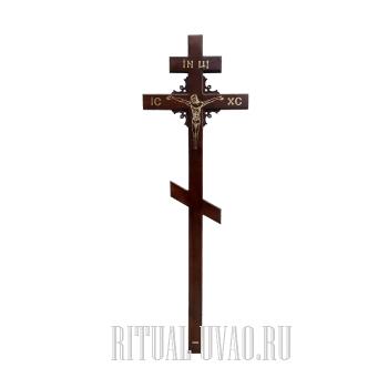 """Крест """"Угол Узор"""" с резной вставкой"""