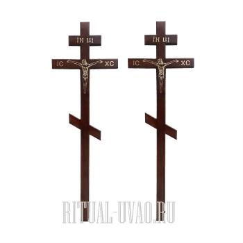 Замена двух крестов на деревянные